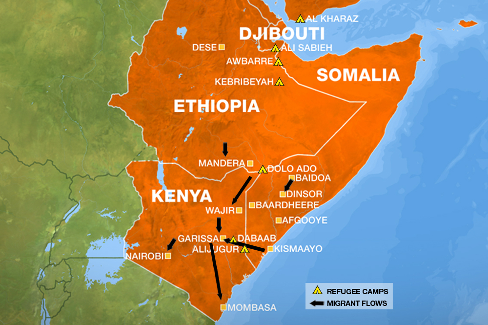 KOLAHUN Map Of The Day Horn Of Africa Drought - Horn of africa map